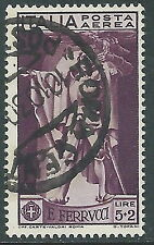 1930 REGNO USATO POSTA AEREA FERRUCCI 5 LIRE - R8-9