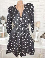 Damen Kleid Mini Abendkleid Party Carmen Strickshirt Longshirt Herz S-XL M10671