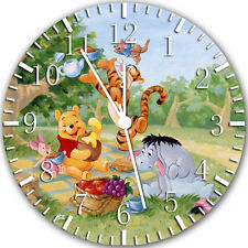 "Winnie The Pooh wall Clock 10"" will be nice Gift and Room wall Decor Y28"