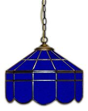 BLUE 14 INCH STAINED GLASS CUSTOM MADE HOME BAR HANGING TABLE LAMP LIGHT FIXTURE