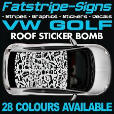 VW GOLF GRAPHICS STICKERS STRIPES DECALS VOLKSWAGEN V DUB GTI R32 R 1.6 2.0 D
