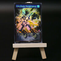 Yugioh PROXY: Crystron Halqifibrax Full-Art | Holo Orica Custom Card Glassfiber