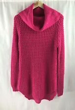 7e097f198cd Rue 21 Women Crochet Knit Cowl Neck Sweater Tunic Top Pink Candy Sz Large