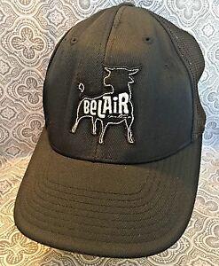 BeLAir Baseball s/m Flex Fit Hat Cap European Union Ox Black Super Rare #271