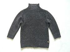 Ted Baker NEW black glitter chunky knit wool blend jumper 3/4 sleeves UK 10