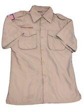 Boy Scout Khaki Shirt Sz Youth Large