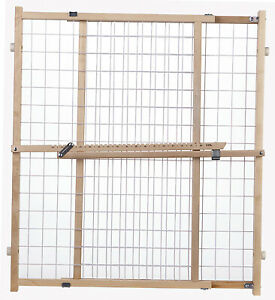 4618A Portable Gate, Extra-Wide, Wire Mesh, 29.5 -50 x 32-In.