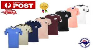 Adidas Originals Classic Crewneck 3 Stripes Trefoil T Shirt California Tees