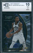 2017-18 Panini Select #11 Donovan Mitchell Rookie BCCG 10 Jazz