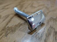 GEM Heavy Flat Top,(G-BAR) Chrome Plated Single Edge Safety Razor 1950's