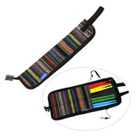 Drum Stick Bag w/ Handy Strap Colorful Drumsticks Mallet Case Cloth Design D2A6