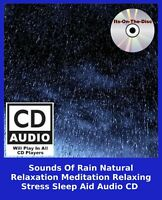 Sounds Of Rain Natural Relaxation Meditation Relaxing Stress Sleep Aid Audio CD