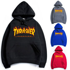 Men Women Hip-hop Hoodie Cotton Basic Skateboard Thrasher Sweatshirts Sweater AU