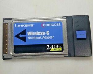 LINKSYS WPC11-CC Card Laptop Adapter Notebook Wireless-G Wi-Fi