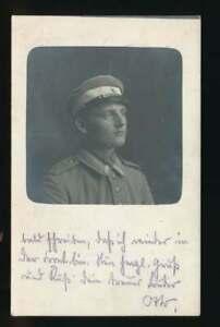 AK Soldat Portait, als Feldpost gelaufen 1915 (60561)