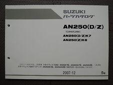 JDM SUZUKI SKYWAVE CJ44A CJ46A AN250 K7 DK7 K8 ZK7 ZK8 Original Parts Catalog