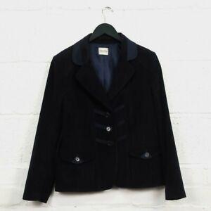 Vintage Viyella Ladies Blazer & Skirt Suit Set Petite Size UK16 Navy Blue Colour