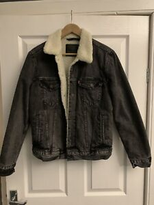 mens levis denim sherpa jacket