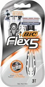 Bic Flex 5 Klinge Einweg Rasierer für Herren Set  3 Stück  NANO TECH