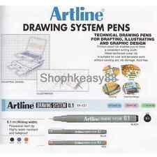 12x Artline EK-231 Technical Drawing System Pens 0.1mm Choose Color