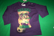"""NWT   DIESEL $29 """"TAKEOB"""" ONLY THE BRAVE L/S T SHIRT BABY PURPLE 6M"""
