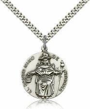 bliss Sterling Silver Saint Nino De Atocha Pendant Medal 1 Inch