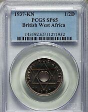 1937 KN British West Africa Specimen 1/2 Penny, PCGS SP 65, Proof