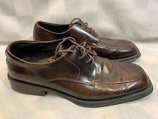 KENNETH COLE Reaction Brown Leather Square Toe Men's Shoes Size 9 C9124