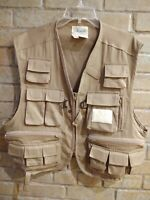 Ausable~Fly~ Fishing~Photography~Outdoors~Vest 22 Pocket~Style#102122WA~Size L~