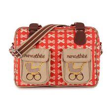 PINK Lining Mama et Bebe Crema fiocchi sul rosso baby cambio pannolino Diaper Bag
