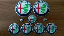 FULL Set of 9pcs Alfa Romeo NEW DESIGN GIULIA emblem badge logo insignia