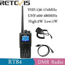 Retevis RT84 Walkie Talkie DMR Digital Ham Radio UHF+VHF 3000CH 2000mAh VOX