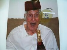 Great Train Robbery Ronnie Biggs signed post stroke image (with swearing)