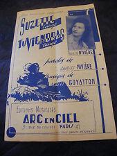 Partitura Suzette Talla única vienen Paulette Niviere Music Sheet