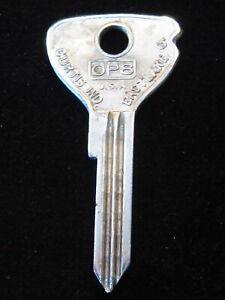 62PD OPEL KEY BLANK Ignition Doors 1960's era Kadett Admiral Olympia Rekord A