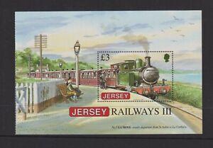 Jersey - 2009, Eisenbahn History Broschüre Im Bereich Blatt - MNH - Sg MS1439