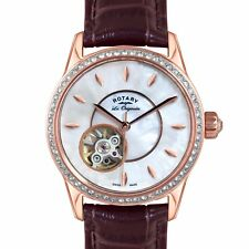 Rotary LS90515/41 Ladies Les Originales Jura Automatic Brown Leather Watch