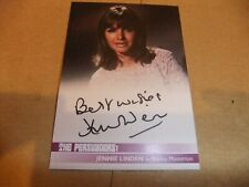 JENNIE LINDEN JL1 AUTOGRAPH CARD THE PERSUADERS ROGER MOORE TONY CURTIS