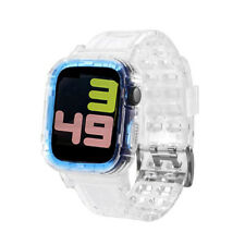 Newest Sport Band for Apple Watch Series 1 2 3 4 5 Transparent Rubber case for