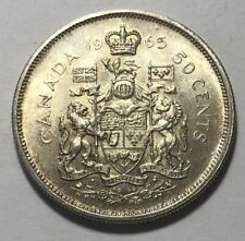 Canada 1965 Fifty (50) Cents Silver Coin - Queen Elizabeth II