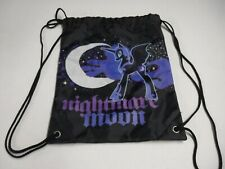 MY LITTLE PONY NIGHTMARE MOON BLACK DRAWSTRING BACKPACK HARD TO FIND EUC A17128