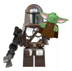 Lego Minifigure Star Wars Figurine The Mandalorian baby yoda compatible empire