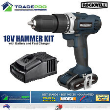 Cordless Drill 18V Driver Rockwell® V/Speed 2 Gear Lithium Battery & Charger