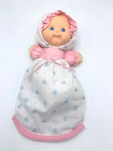 Fisher Price Puffalump Kid Baby #1210 Pink Blue Bunting Swaddled Vintage 1992