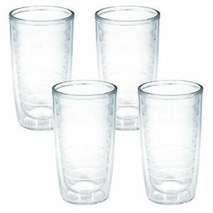 Tervis Clear & Colorful Insulated Tumbler 16oz - 4 Pack - Boxed Clear