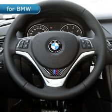 For BMW X1 E84 Car Steering Wheel Cover Carbon Fiber M Stripe Emblem Stickers