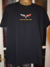 CORVETTE  ON FRUIT OF LOOM HEAVYWEIGHT T-SHIRT MACHINE EMBROIDERED IN UK