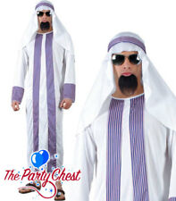 MENS ARAB SHEIK COSTUME Football Club Owner Ali Baba Robes Fancy Dress Outfit