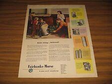 1947 Print Ad Fairbanks-Morse Automatic Water Systems Cellar Door Farm House