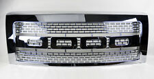 Ford F150 2009-2014 Raptor Style Sport Mesh Chrome Front Hood Bumper Grill